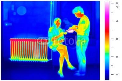 A radiátor által biztosított hőfokeloszlás